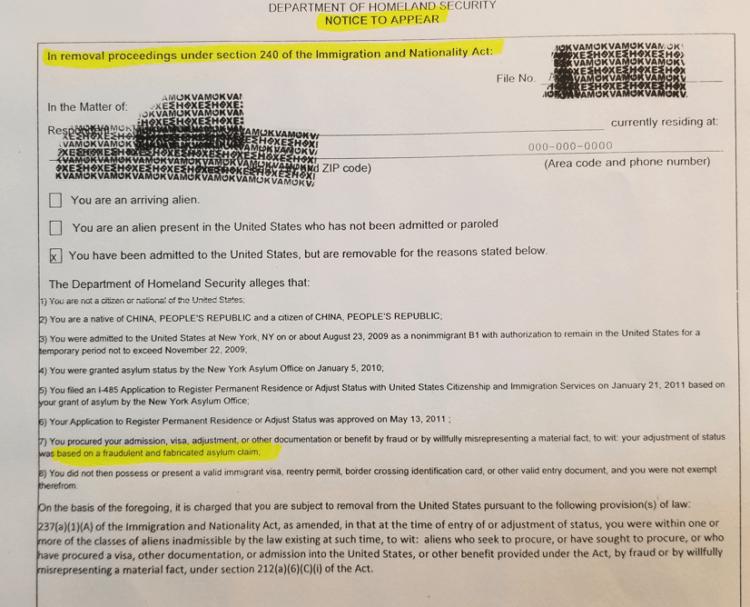 华裔涉嫌政庇造假收到移民局取消绿卡通知?朱&施联合律师楼资深移民律师助无辜受害人提出申诉