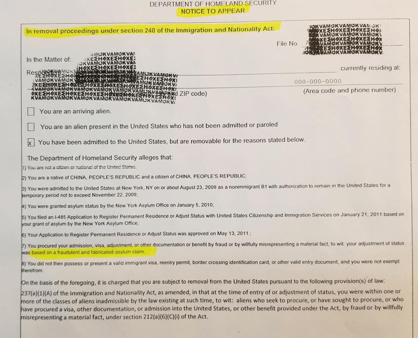 政庇案收到重审通知莫惊慌,资深移民律师帮您保住绿卡!1.35萬政庇绿卡持有人或面临遣返